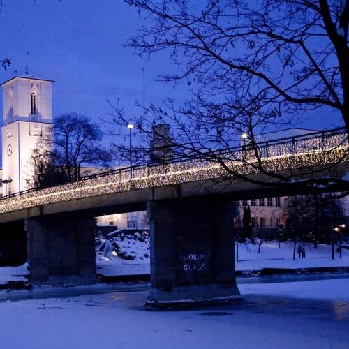 Sandvika, julbelysning