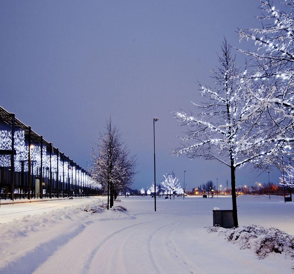 Varemessa Lilleström, julbelysning