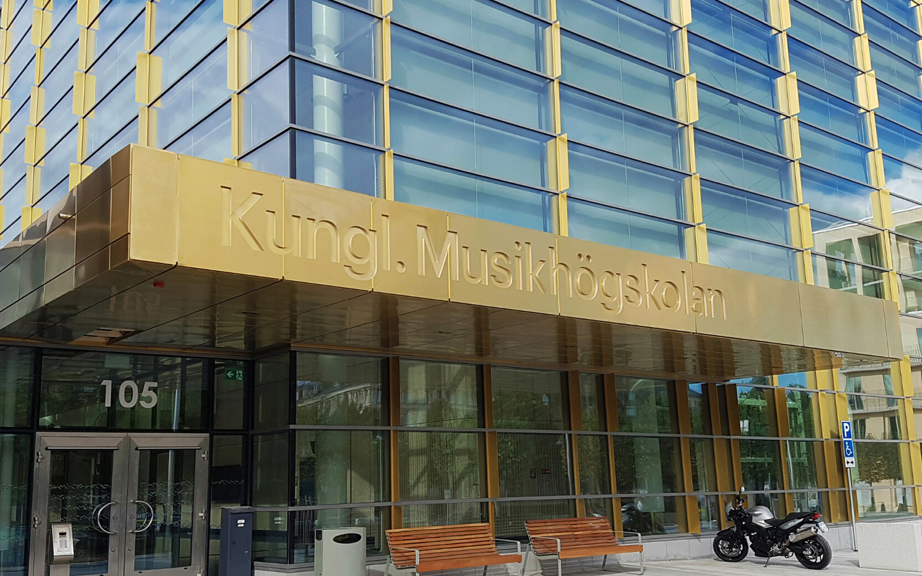 Kungliga Musikhögskolan - Entréskylt