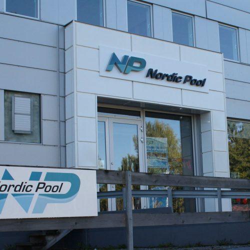 Nordic Pool, ljusskylt, portal