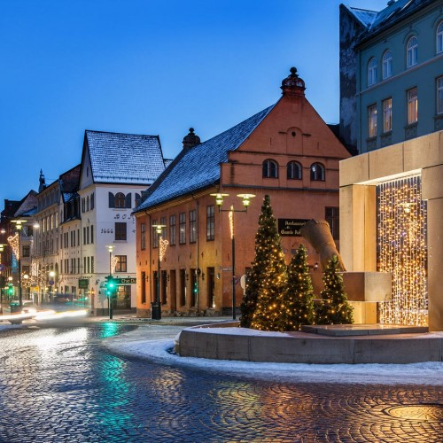 Christiania Torv, julbelysning