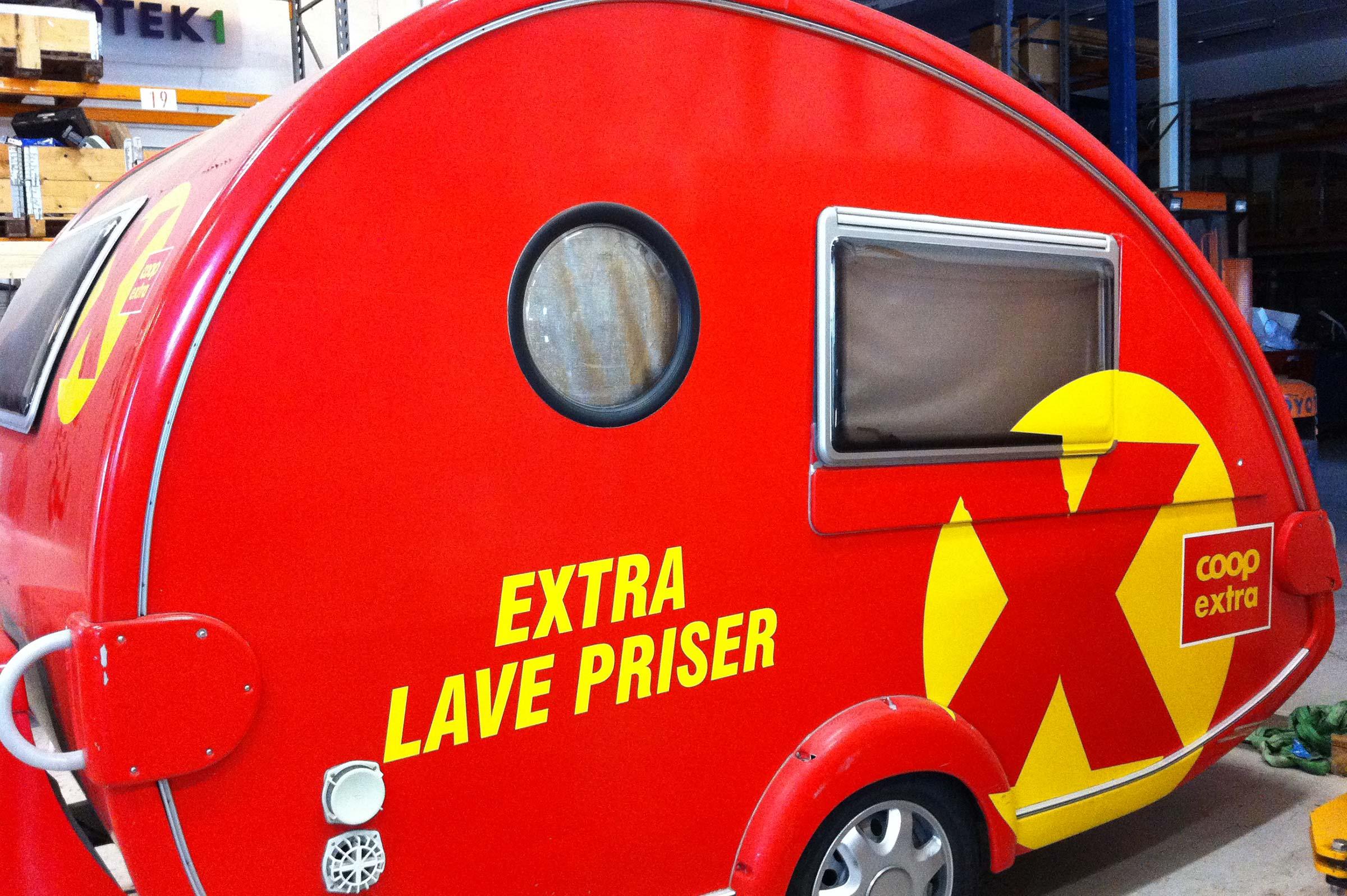 Coop Extra, bildekor, campingvogn