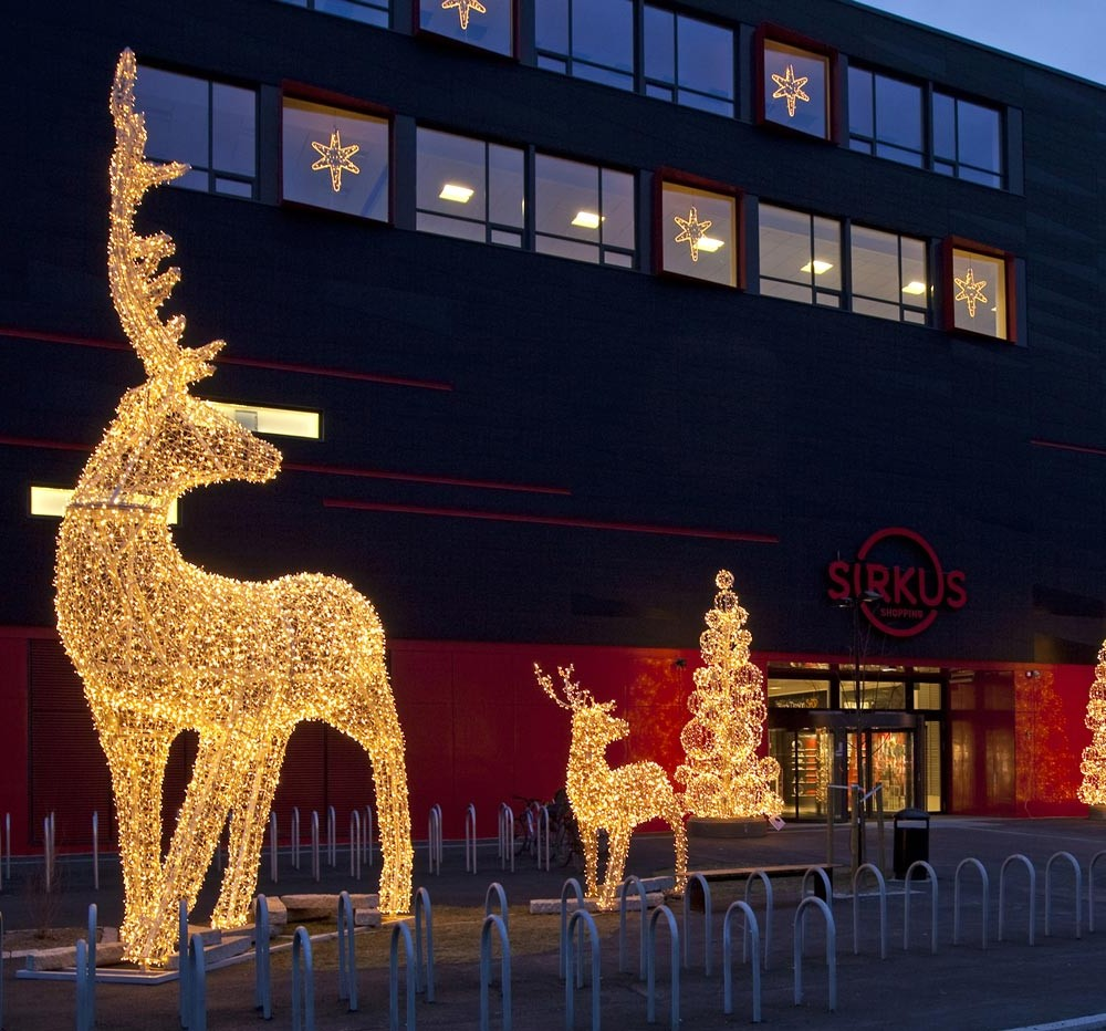 Sirkus Shopping, Trondheim, julbelysning