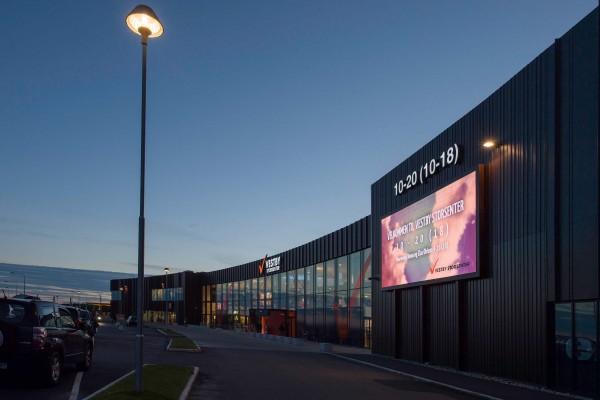 Vestby Storsenter fasade digitale skilt