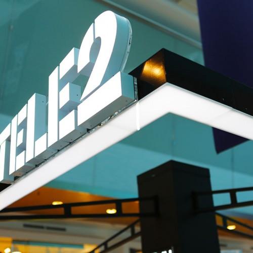 Tele2, ljusskylt