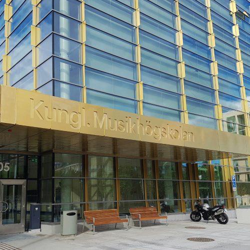 Kungliga Musikhögskolan – Entréskylt