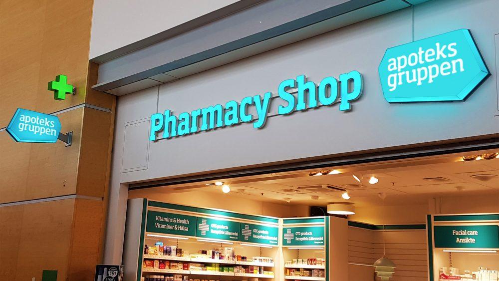 Apoteksgruppen Arlanda Airport, Stockholm - Pharmacy Shop Signs - Ljusskyltar