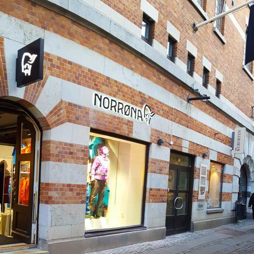 Norröna Göteborg – fasadskyltar