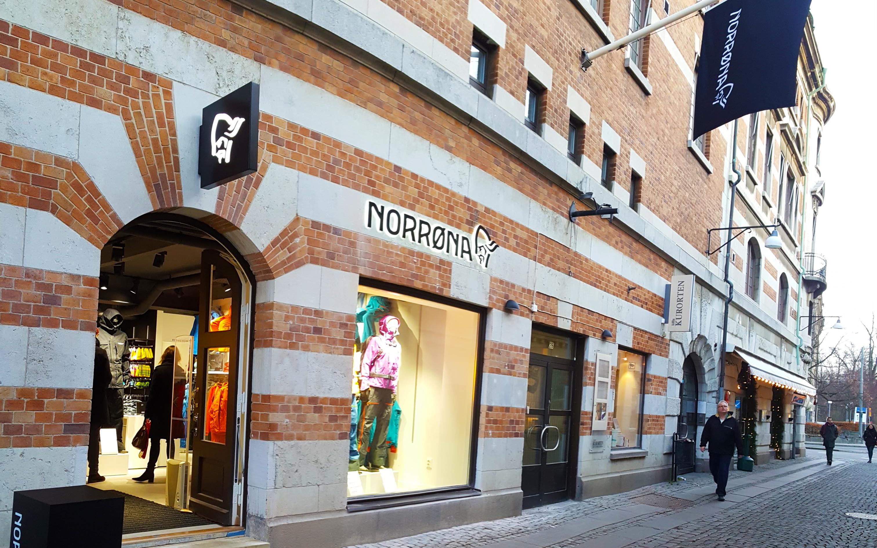 Norröna Göteborg - fasadskyltar