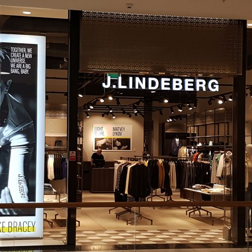 J. Lindeberg, Mall of Scandinavia – Ljusskylt